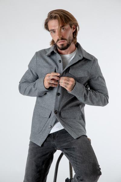 Loden-Overshirt Steve grau