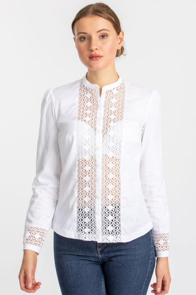 Gottseidank Spitzen-Bluse Paulette A001770 weiß