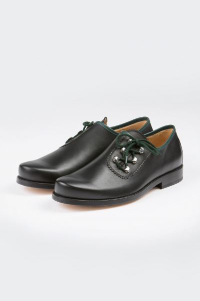 Dirndl&Bua Herren Schuhe 6021 Softy schwarz grün