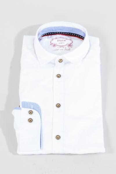 Pure Trachtenhemd C62617-21218 weiß
