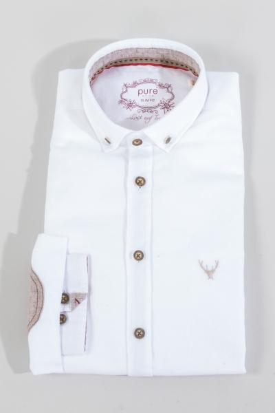Pure Trachtenhemd C62616-21204 weiß