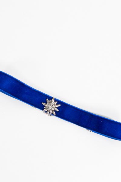 Alpenflüstern Samtkropfband DHK 10900060 Edelweiss blau