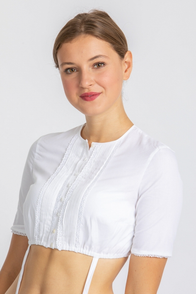 Gottseidank Damen Dirndlbluse Rofina A000754-100 weiß