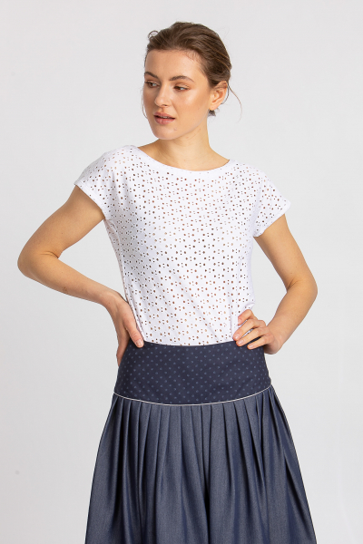 Shirt mit Lochmuster 21542