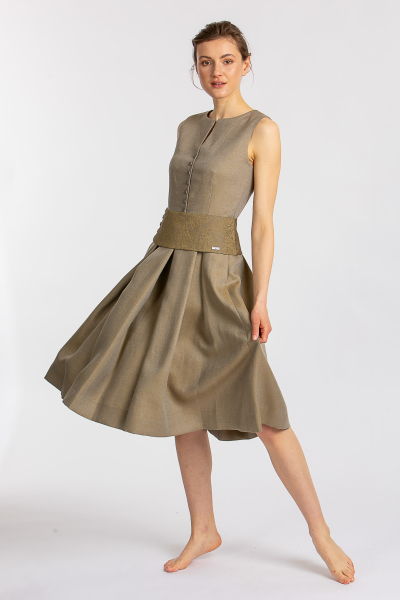 Kleid Katha messing inkl. Schärpe
