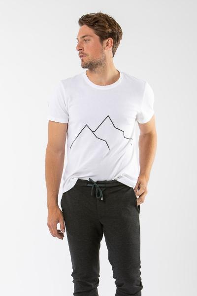 Berg T-Shirt Geigelstein weiß