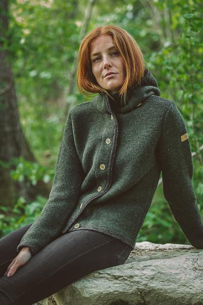 Liebling Janker Bavarian Wool Vreni grün-anthra