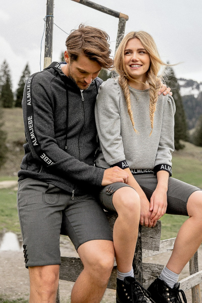 Sweatshirt Geißkopf grau