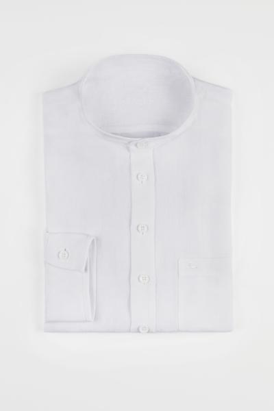Wallmann Leinenhemd 2013651-1129 weiß