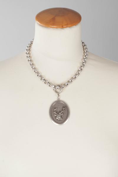 Seenberg Halskette S100693 Collier mit Hirschbildanhänger