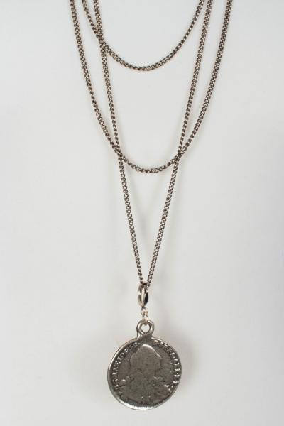Seenberg Halskette S100209 Collier mit Münzanhänger
