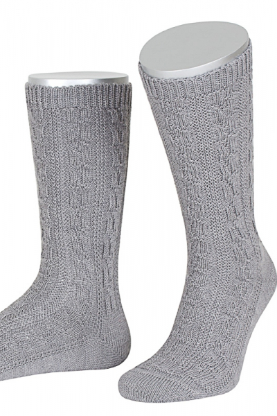 Lusana Herren Socken L5697-03 grau
