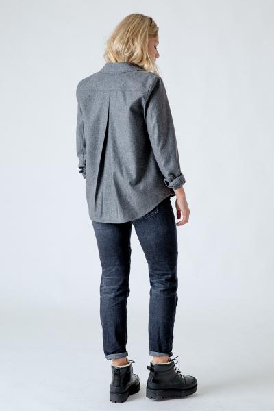Loden-Overshirt Hanna grau