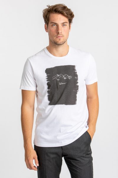 Luis Trenker T-Shirt Ciril weiß