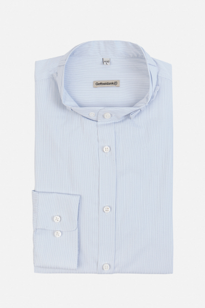 Gottseidank Stehkragenhemd Lenz A002327-670 eisblau