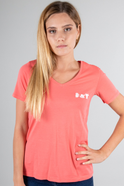 Vronikaa Damen T-Shirt Heidi Flamingo