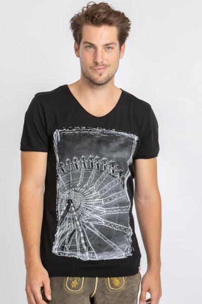Vronikaa Herren T-Shirt Riesenrad schwarz