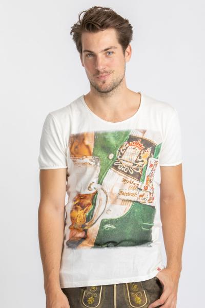 Vronikaa Herren T-Shirt Herzkönig weiß
