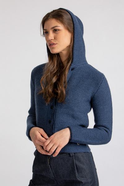Strickjanker mit Kapuze Emma aus Organic Wool