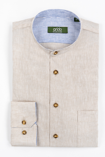 Arido Stehkragenhemd 29723150-47 beige