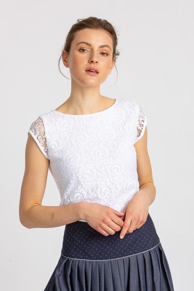 Spitzenbluse 21560 weiß