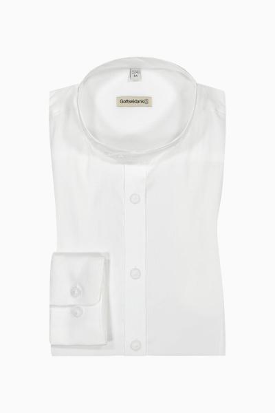 Gottseidank Herren Stehkragenhemd Lenz A000592-100 weiß