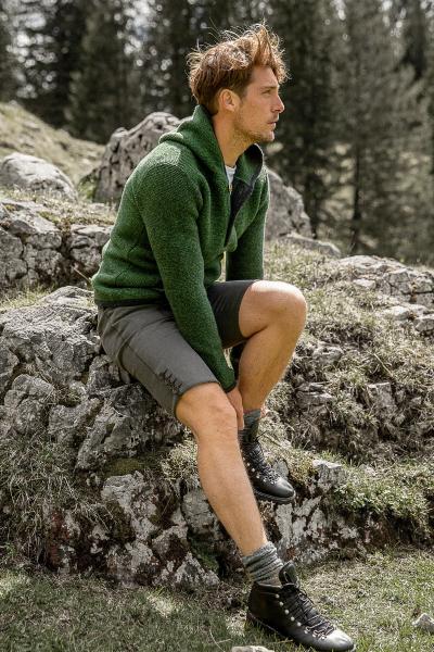 Canvashose im Lederhosenstil Wildspitze
