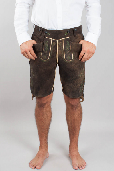 Meindl Herren Hirschlederhose Salzburg ahorn