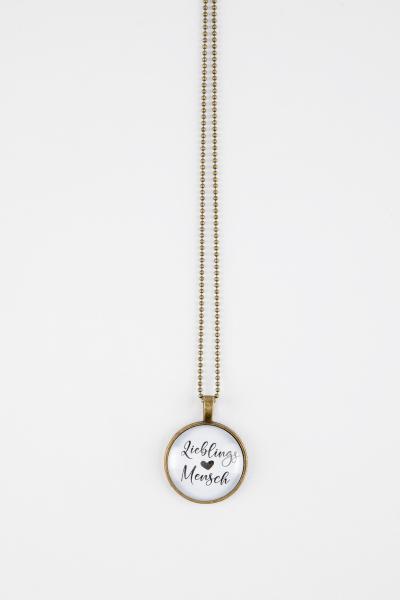 handg'macht mit Liebe Spruchkette Lieblingsmensch bronze