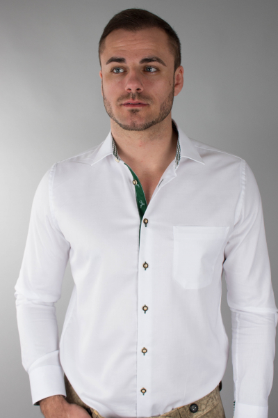 Arido Herren Hemd 2791 960 40 weiß/grün