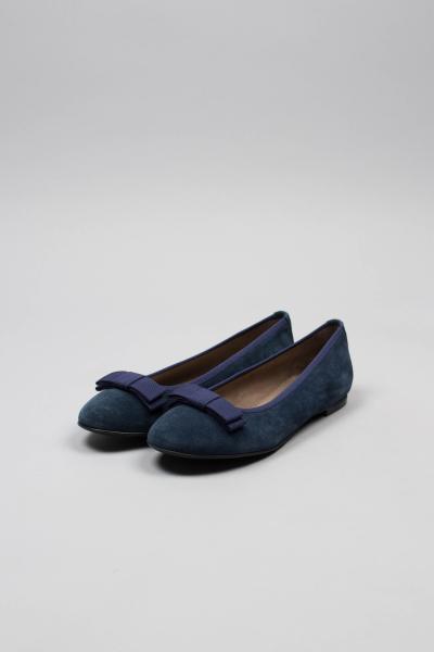 Dirndl & Bua Damen Ballerina Coco 5664 blau