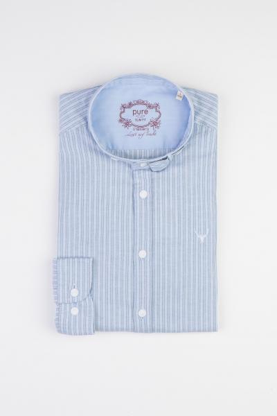 Pure Stehkragenhemd 500721616 hellblau