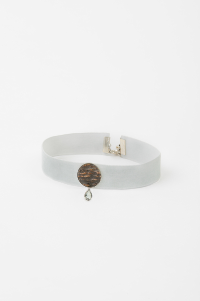 meiTherese Kropfband KB0412181 Prachtstück grau