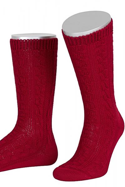 Lusana Herren Socken L5697-20 bordeaux